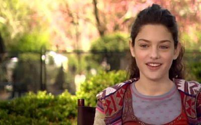 16-year-old actress Odeya Rush (photo credit: Youtube screenshot)