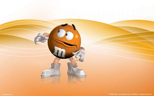 Orange M&Ms (photo credit: Mars Incorporated)