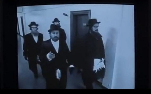 Illustrative photo of undercover rabbis in Guy Ritchie's 'Snatch' (screen capture: YouTube)