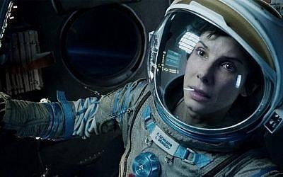 Sandra Bullock in Gravity (photo credit: Warner Bros.)