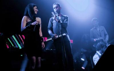 Shlomi Shaban and Ninet Tayeb onstage at last spring's Israel Festival (Courtesy Shlomi Shaban official Facebook page)