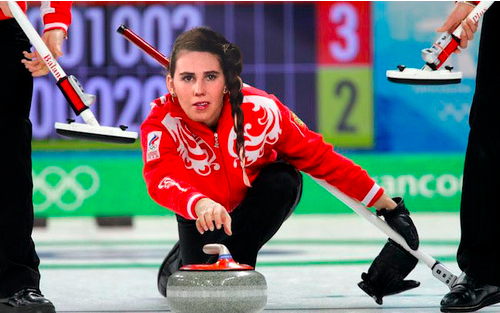 A look of concentration while curling (courtesy Shoshi Games 2014)