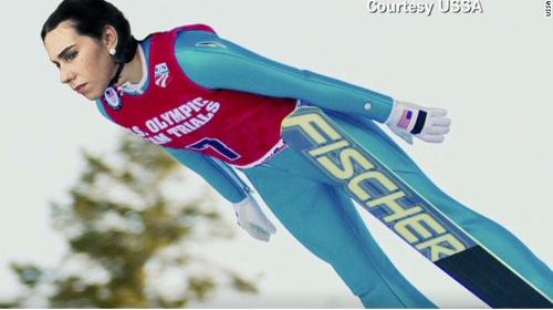 Shosh on skis! (courtesy Shoshi Games 2014)