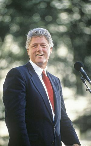 Bill Clinton during a 1992 campaign stop (photo credit: spirit of america / Shutterstock.com)
