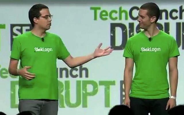 SlickLogin CEO Or Zelig and VP R&D Ori Kabeli (Youtube screenshot)