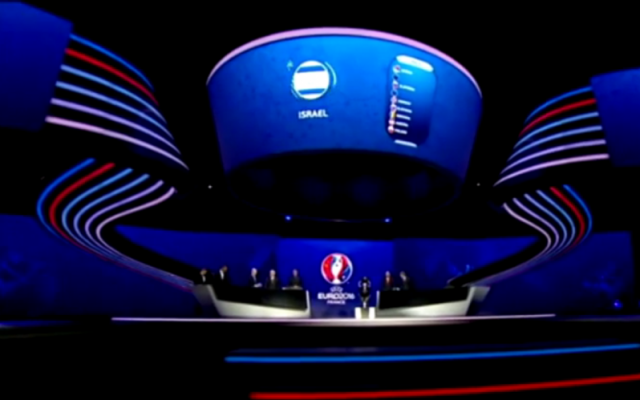 The qualifying draw for the UEFA Euro 2016 soccer tournament. (screen capture: YouTube)