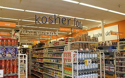 The kosher section at Winn-Dixie's Boca Raton store. (Illustrative photo: Uriel Heilman/JTA)