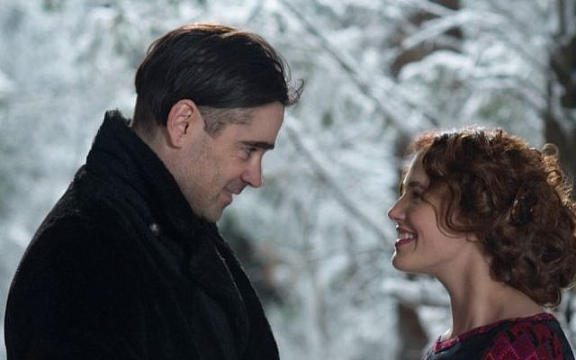 Colin Farrell and Jessica Brown Findlay in 'Winter's Tale' (Warner Bros.)
