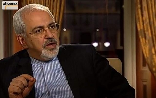 Iranian Foreign Minister Mohammad Javad Zarif, February 3, 2014 (YouTube screenshot)