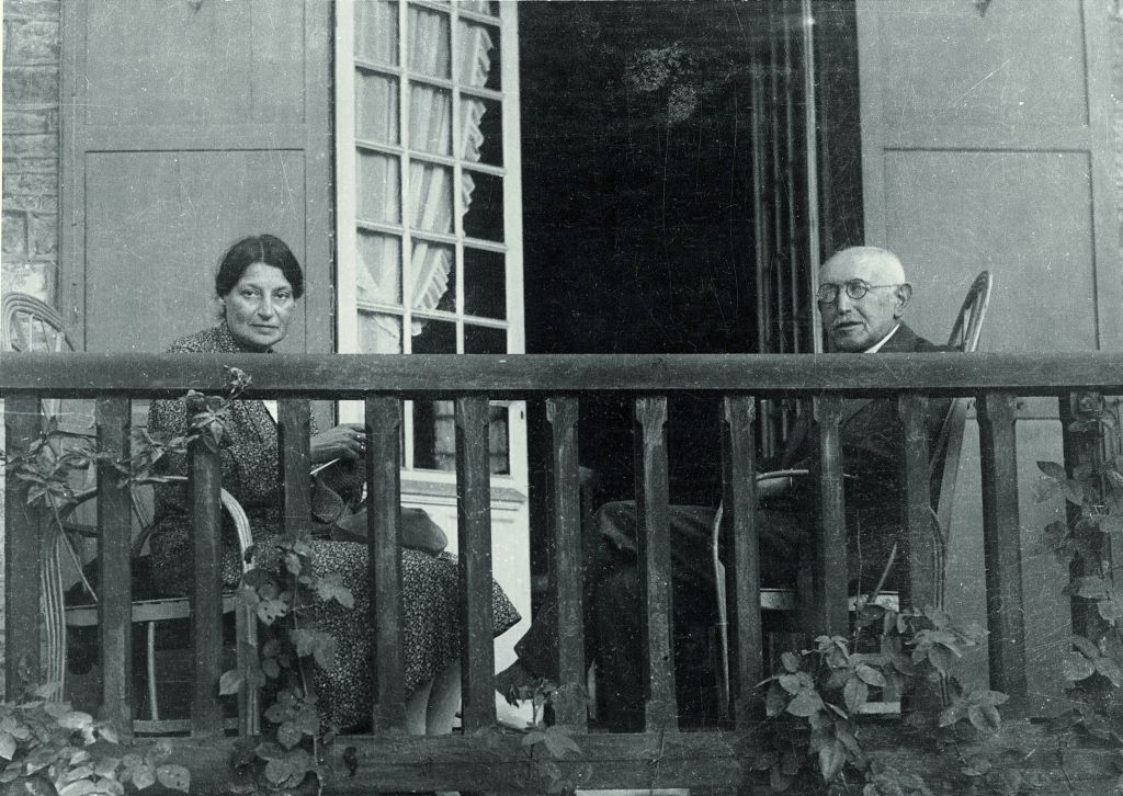 Alfred Dreyfus with his wife Lucie, circa 1934. (photo credit: Dreyfus Family Collection)
