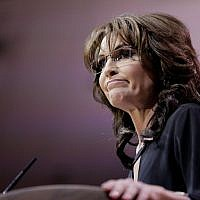 Sarah Palin speaks during the 41st annual Conservative Political Action Conference held in National Harbor, Maryland, on March 8, 2014. (T.J. Kirkpatrick/Getty Images/AFP)