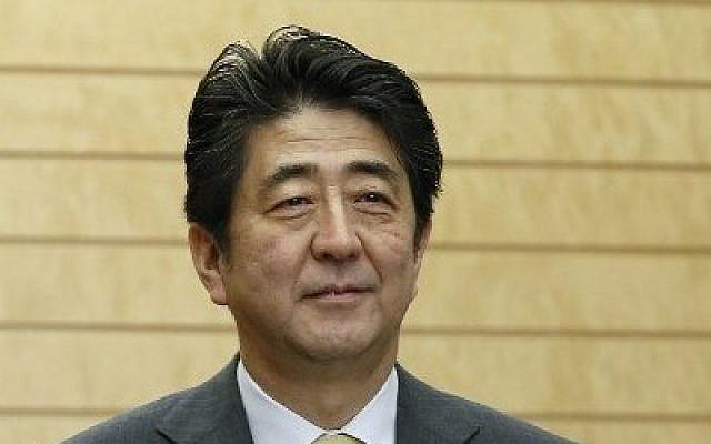 Japanese Prime Minister Shinzo Abe on March 5, 2014. (photo credit: AFP/ KIMIMASA MAYAMA)
