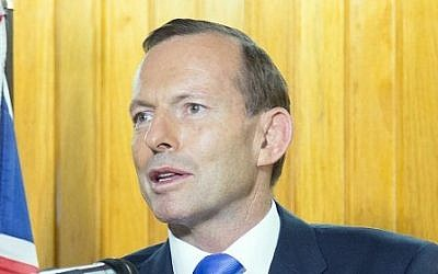 Australian Prime Minister Tony Abbott (photo credit: AFP/Ness Kerton)