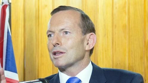 Australian Prime Minister Tony Abbott (photo credit: AFP/Ness Kerton)