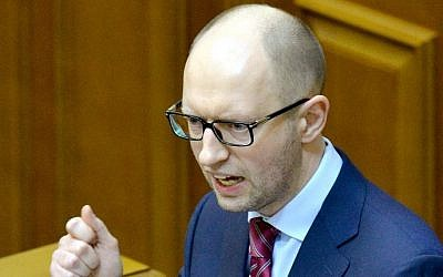 Ukraine's Prime Minister Arseny Yatsenyuk (Photo credit: Sergei Supinsky/AFP)
