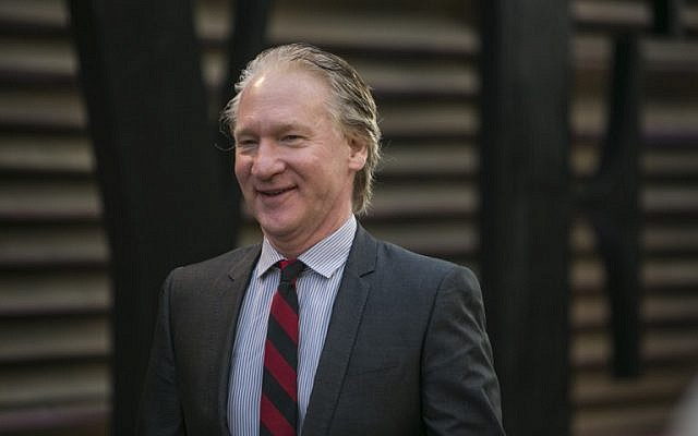 Bill Maher arrives to the 2014 Vanity Fair Oscar Party on March 2, 2014 in West Hollywood, California (photo credit: AFP/Adrian Sanchez-Gonzalez)