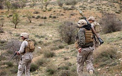 Illustrative photo of Lebanese troops (photo credit: AP/Hussein Malla)