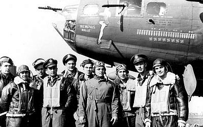 "The crew of the ""Memphis Belle,"" the subjects of a 1944 documentary (photo credit: US Air Force/Wikimedia Commons)"