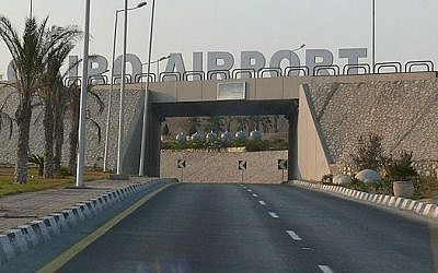 Entrance to Cairo International Airport (photo credit: Ad Meskens/Wikimedia Commons/File)