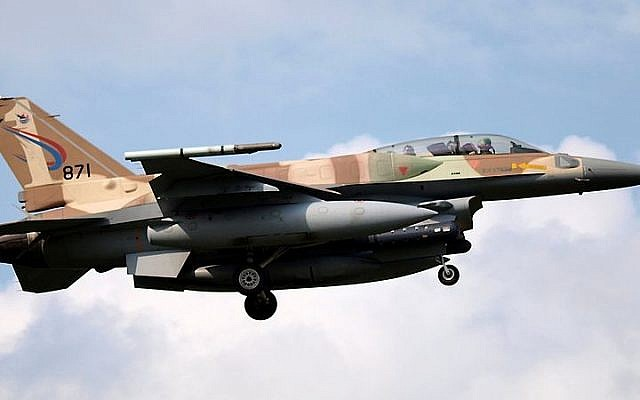 Illustrative photo of an Israeli Air Force F-16I Soufa (photo credit: KGyST/Wikimedia Commons)