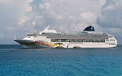 Illustrative photo of a Norwegian cruise ship (photo credit: OneCyclone/Wikimedia Commons)