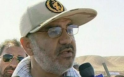 This image released September 27, 2009, on Iranian state TV cannel IRIB, shows Gen. Hossein Salami, head of the Revolutionary Guard Air Force. (AP Photo/IRIB, via APTN)