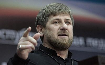 Chechen leader Ramzan Kadyrov (photo credit: AP/Mousa Sadulayev/File)