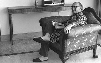 Menachem Begin at home (photo credit: GPO)