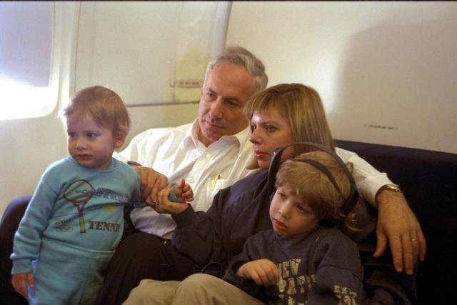 A young Prime Minister Benjamin Netanyahu enjoys quality time with his family (photo credit: GPO)