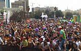 Partying at Tel Aviv's annual Purim street party (Courtesy City of Tel Aviv)