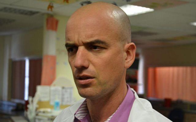 Pediatrician Dr. Yoav Hoffman at Nahariya's Western Galilee Hospital, March 11, 2014 (photo credit: Kate Shuttleworth)