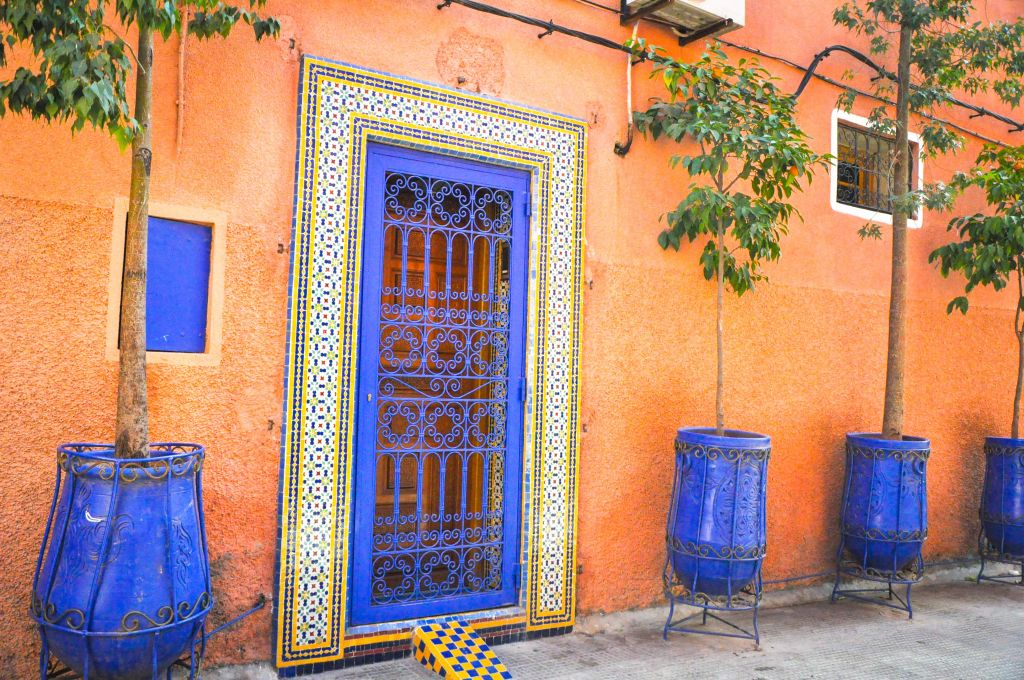 The mellah derived its name from the Arabic word for salt. The Jews were confined to the inner walls of the rundown mellahs, such as the one above, in Marrakech.