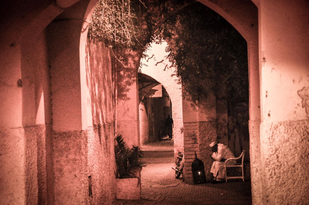 A view of one of the arched-walkways of the old mellah in Marrakech. (photo credit: Michal Shmulovich)