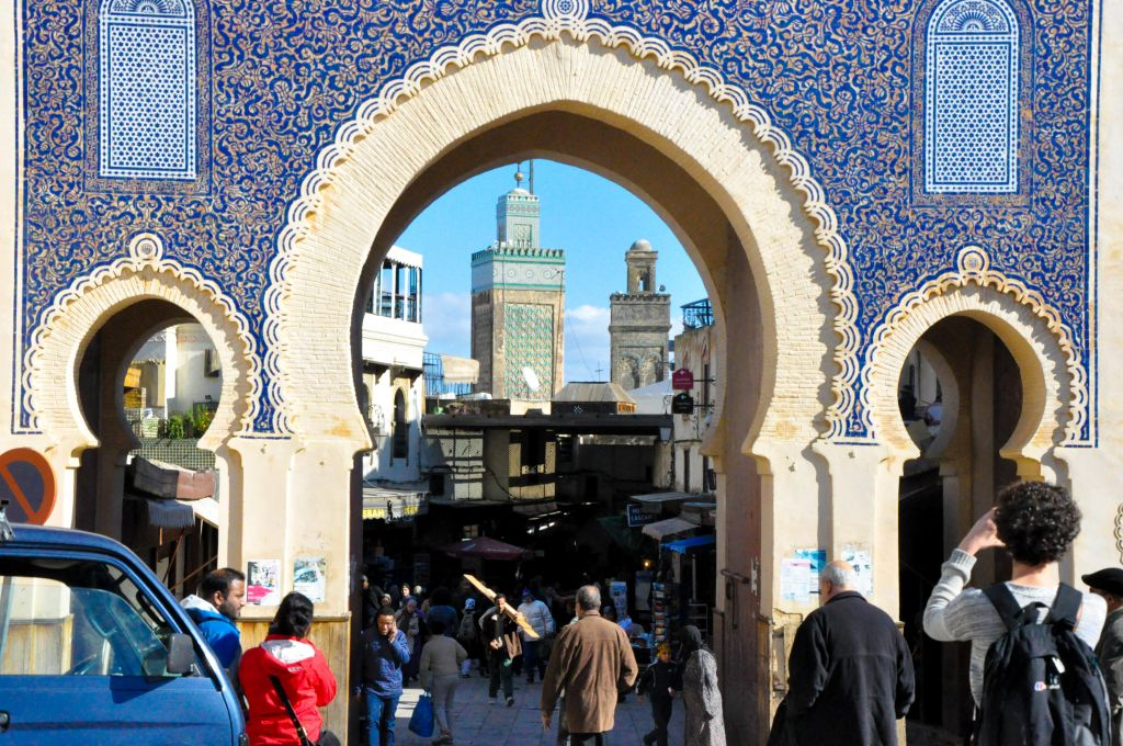 "Fez's old city, or medina, is a large UNESCO World Heritage Site. Sometimes referred to as the ""Athens of Africa,"" this medieval capital city was famous for, among other things, its highly-specialized Jewish, Muslim, and Berber craftsmen."