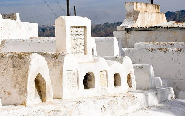 Pictured here are the burial sites of important Moroccan Jews, as evidenced by the large gravestones. (photo credit: Michal Shmulovich)