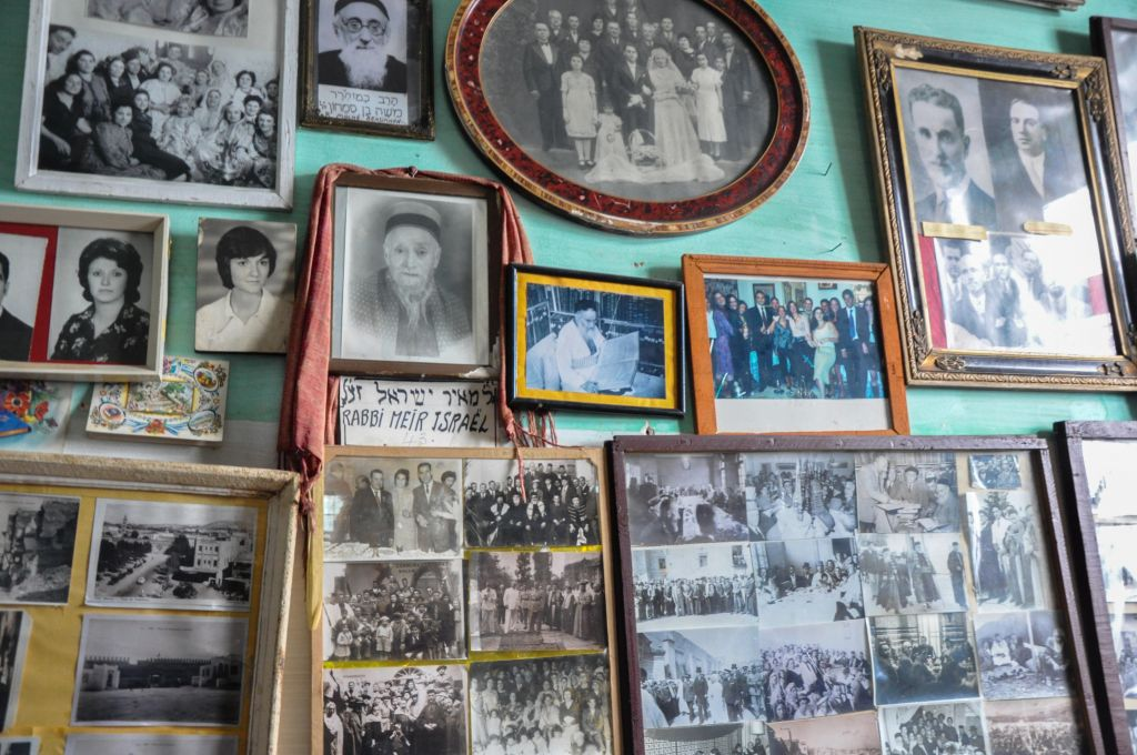 Old Jewish photos dot the walls in the Habarim museum in Fez. (photo credit: Michal Shmulovich)