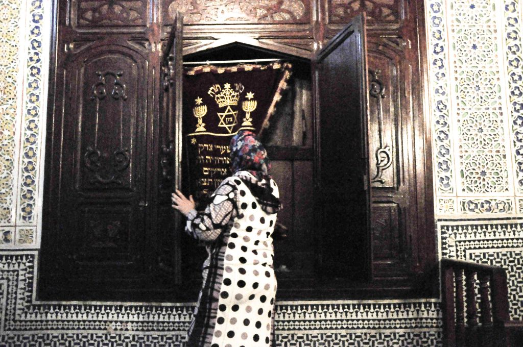 The Ibn Danan synagogue is open to the public but not used often anymore. It was once the only synagogue inside Fez's old city walls. A Muslim family lives below the sanctuary, and escort visitors to the premises for a small fee. (photo credit: Michal Shmulovich)