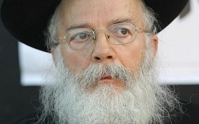 Rabbi Shalom Dov Wolpo (photo credit: Nati Shohat/Flash90)