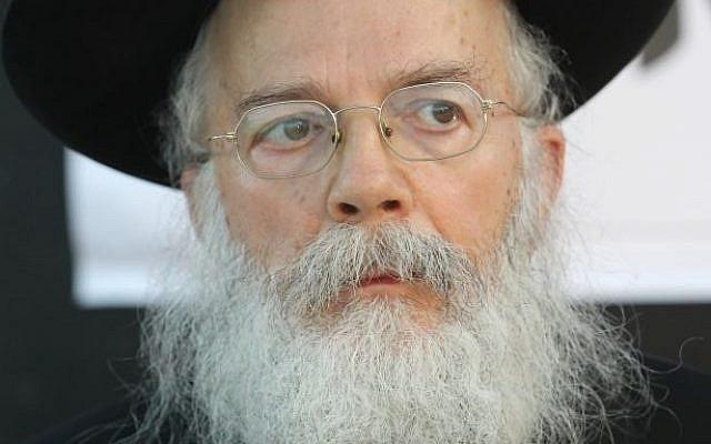Rabbi Shalom Dov Wolpo (photo credit: Nati Shohat/Flash90)