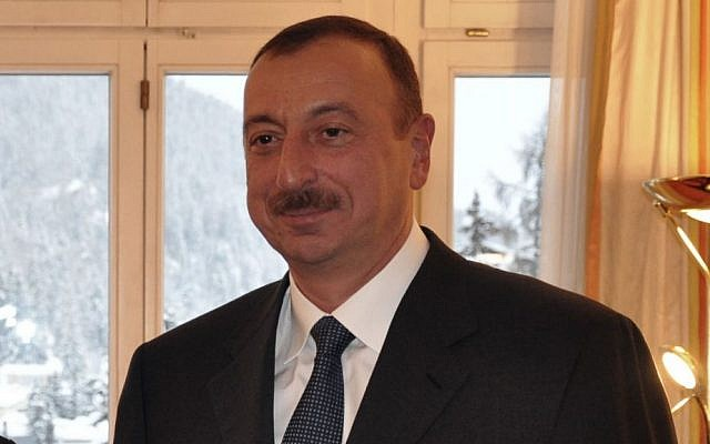 Azeri President Ilham Aliyev (photo credit: Flash90)