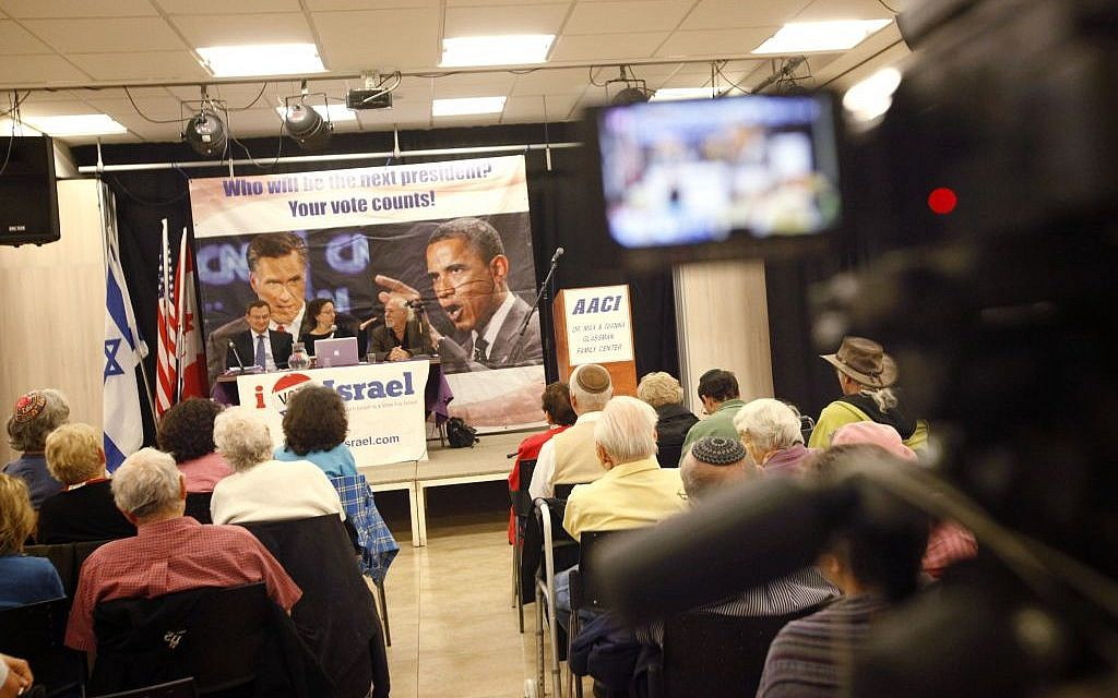 At a Democrat/Republican debate in Jerusalem; some Americans have become disenchanted with the US following President Obama's reelection, and would consider expatriation, said lawyer Marc Zell (photo credit: Miriam Alster/Flash 90)