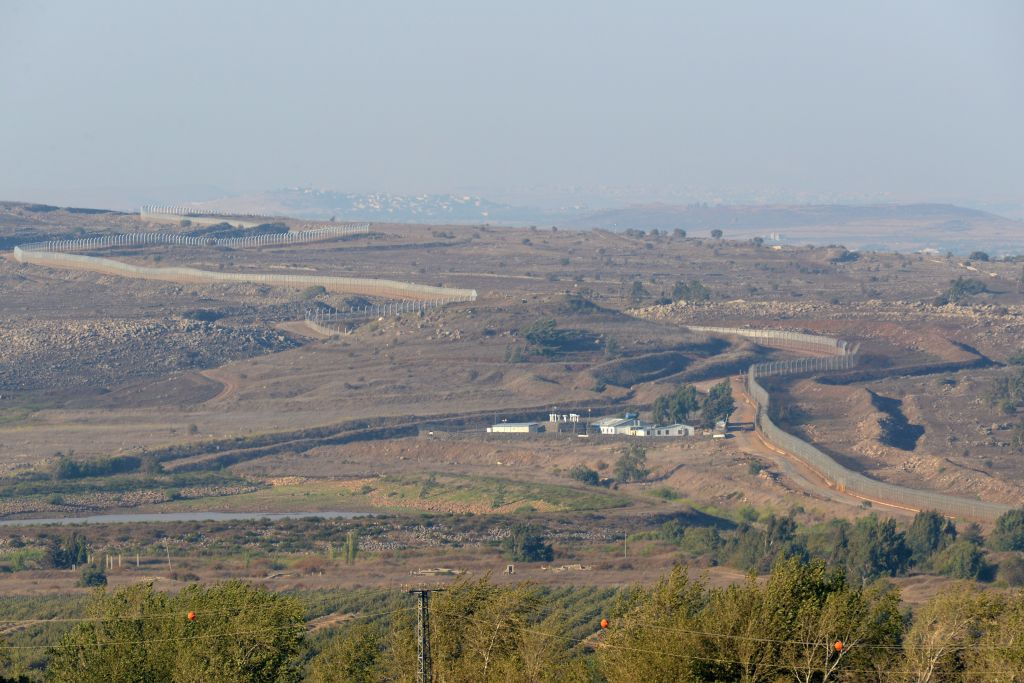 A view of Israel' border with Syria in the Golan Heights, August 2013 (photo credit: Gili Yaari/Flash90)
