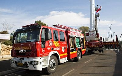 Illustrative photo of a fire truck (photo credit: Yonatan Sindel/Flash90)