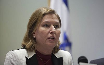 Justice Minister Tzipi Livni speaks during a Hatnua faction meeting in the Knesset, Monday, February 17, 2014 (photo credit: Flash90)