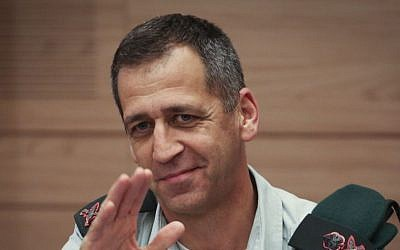 Then-head of Military Intelligence Maj. Gen. Aviv Kochavi attends a Knesset committee meeting on February 25, 2014. (Hadas Parush/Flash90)
