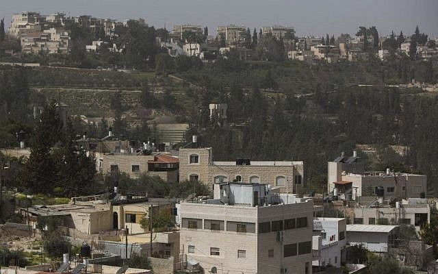A view of an east Jerusalem neighborhood (Photo credit: Yonatan Sindel/Flash90)