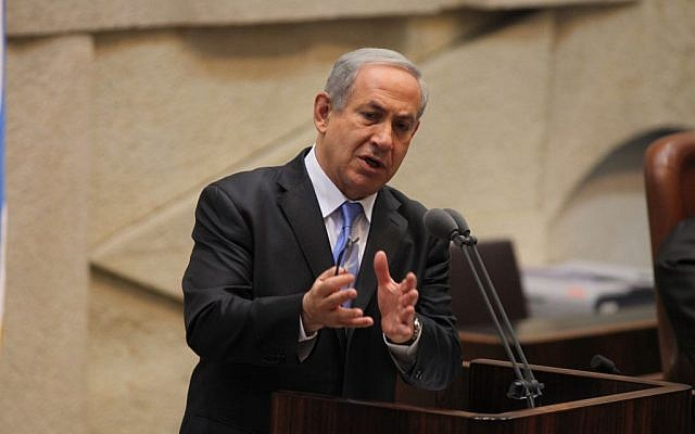 Prime Minister Benjamin Netanyahu on Wednesday, March 19, 2014. (Photo credit: Flash90)
