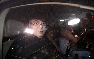 Avi Benayahu leaving court Thursday night. (photo credit: Gideon Markowicz/FLASH90)
