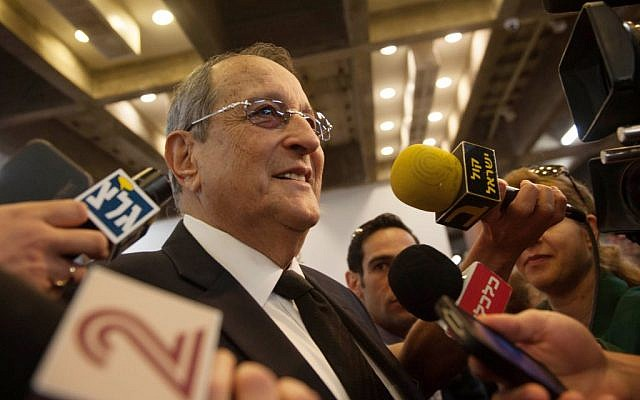 Olmert attorney Eli Zohar speaking to reporters outside the Tel Aviv courtroom Monday. (photo credit: Ben Kelmer/Flash90)