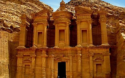 Petra's Monastery tomb (photo credit: Ilan Ben Zion/Times of Israel staff)